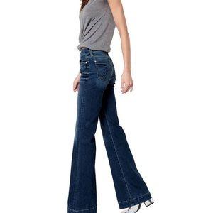 7 For All Mankind Dojo Wide Leg Jeans Denim Sz 26